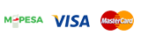 M-PESA, VISA and MasterCard Payment Methods are available